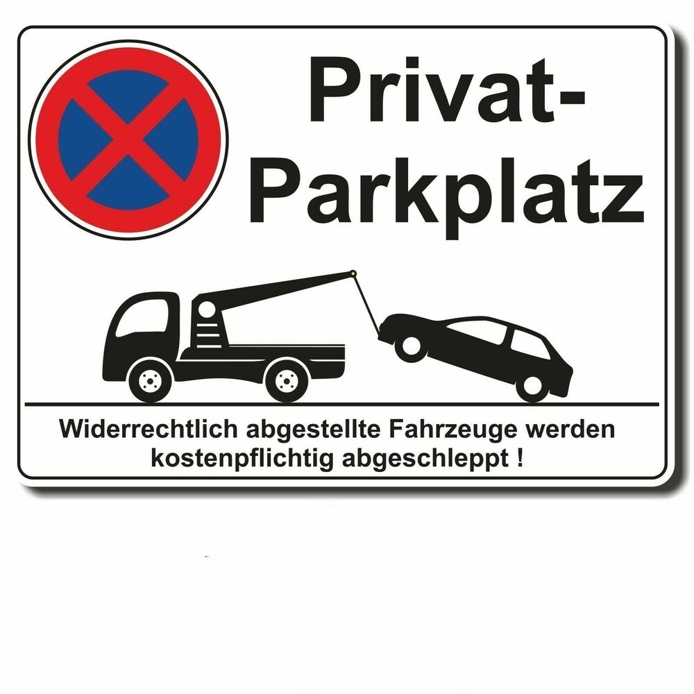 aufkleber parkverbot privatparkplatz hinweisschild halteverbot parken verboten ebay. Black Bedroom Furniture Sets. Home Design Ideas