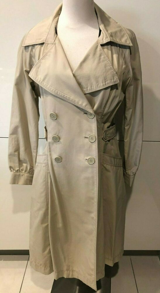 Zapa Paris Belted Double Breasted Trench Coat Unlined