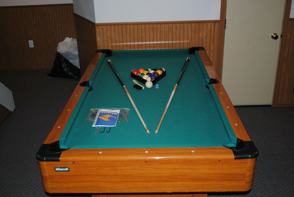 Mizerak dynasty space saver pool table 78 inch used - Space needed for pool table ...