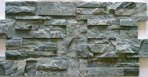 river green stacked natural stone for walls backsplash