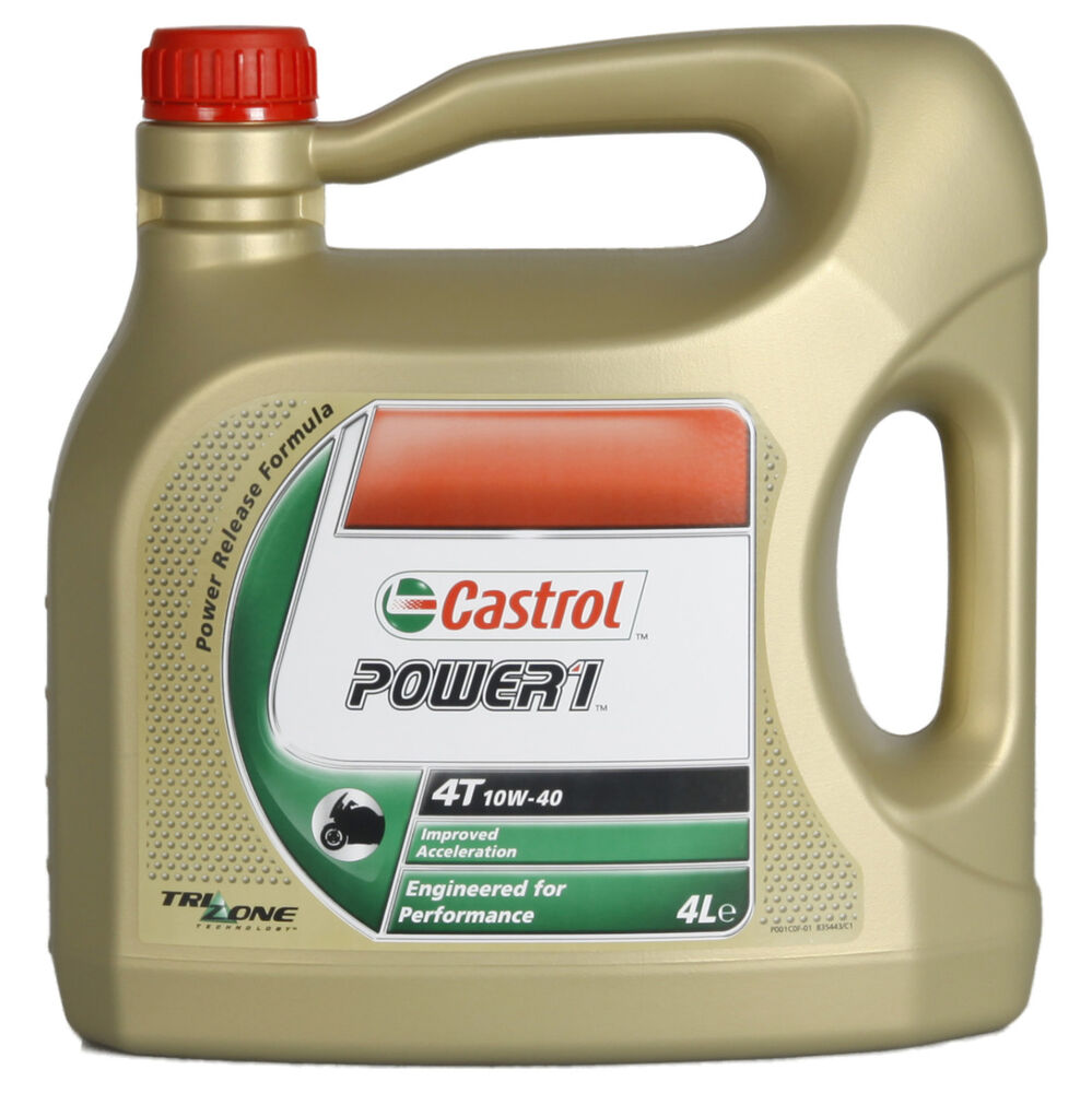 castrol power 1 4t 10w 40 motorrad l 4 liter api sj jaso. Black Bedroom Furniture Sets. Home Design Ideas