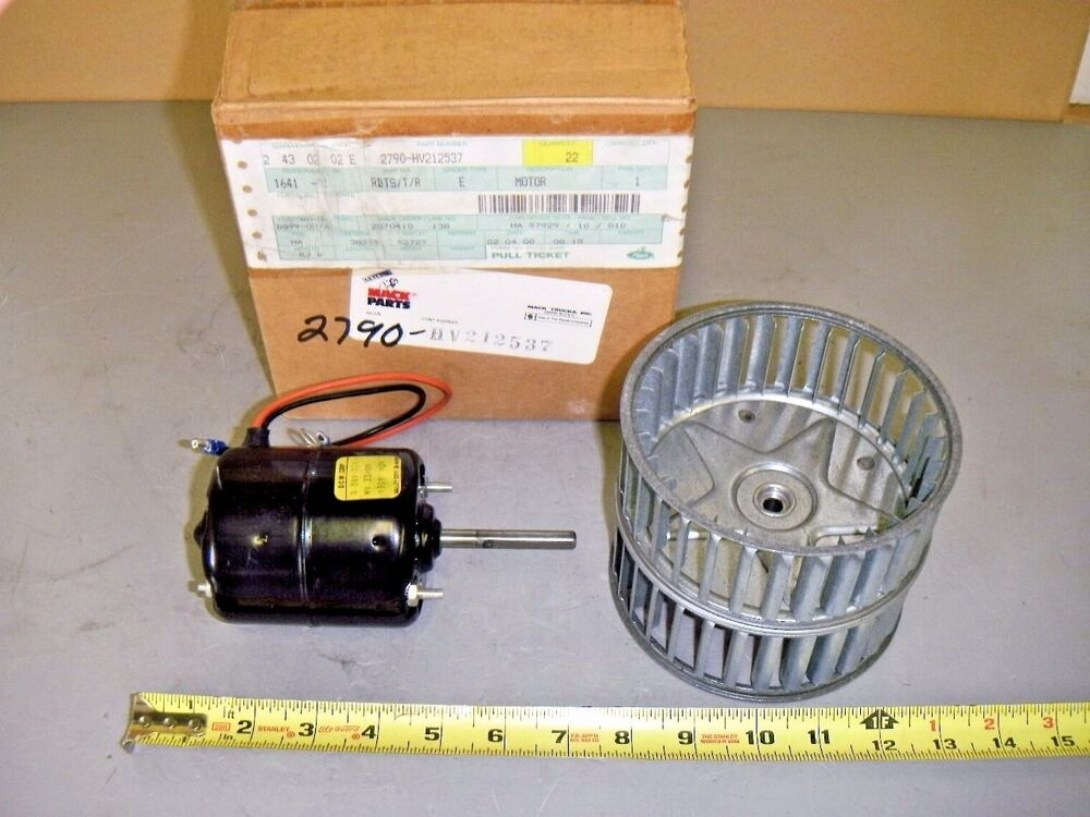 Mack 2790 Hv212537 Heater Blower Motor 12v With Squirrel