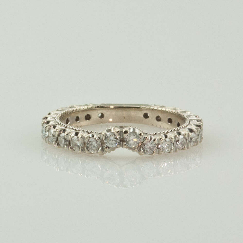 eternity band wedding anniversary ring ct diamonds chanel set