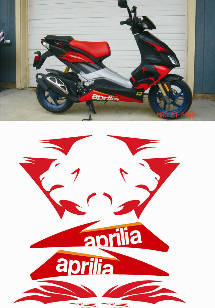 aprilia sr 50 r factory 2007 stickers graphics kit sized to fit ebay