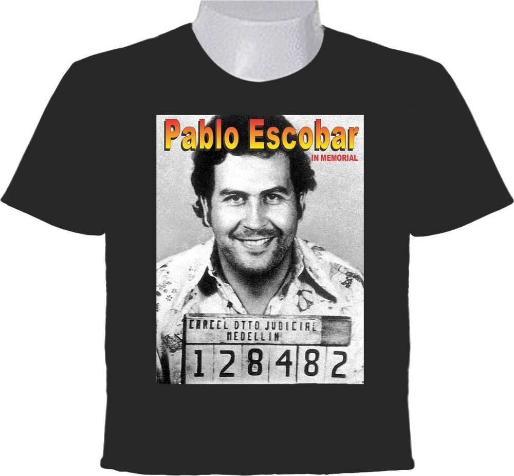 pablo escobar gaviria t shirt in memorial picture el. Black Bedroom Furniture Sets. Home Design Ideas