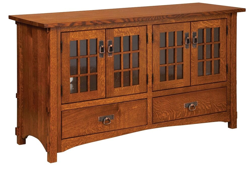 Amish Mission Rustic TV Stand Plasma Flat Screen Cabinet