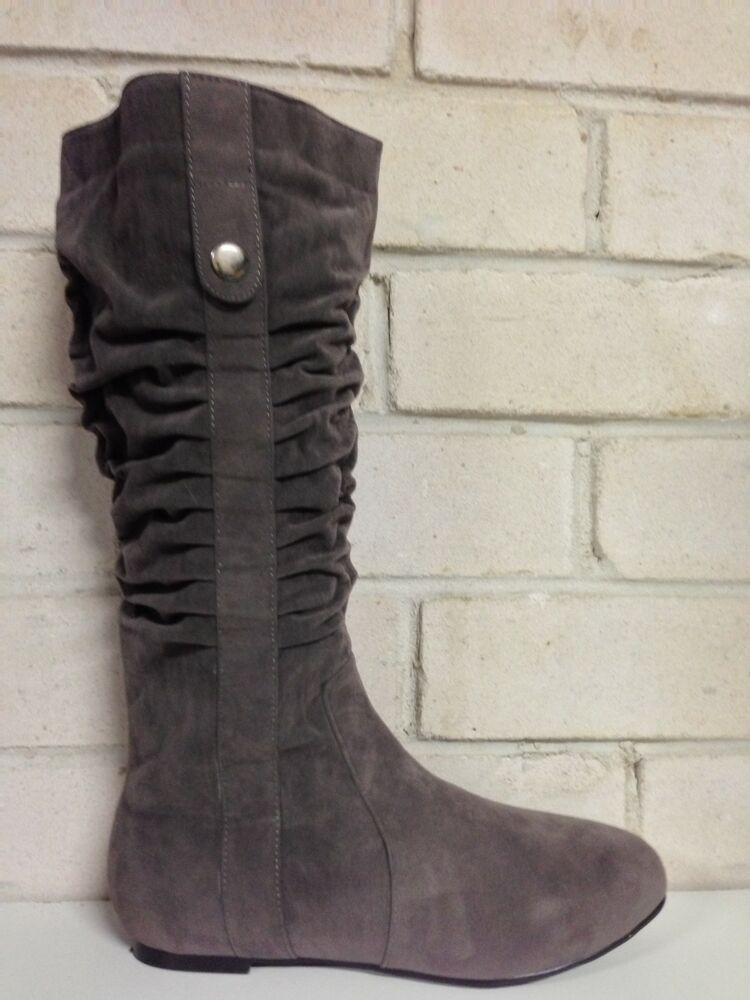 new womens shoes quot halt quot by no shoes flat heel knee high
