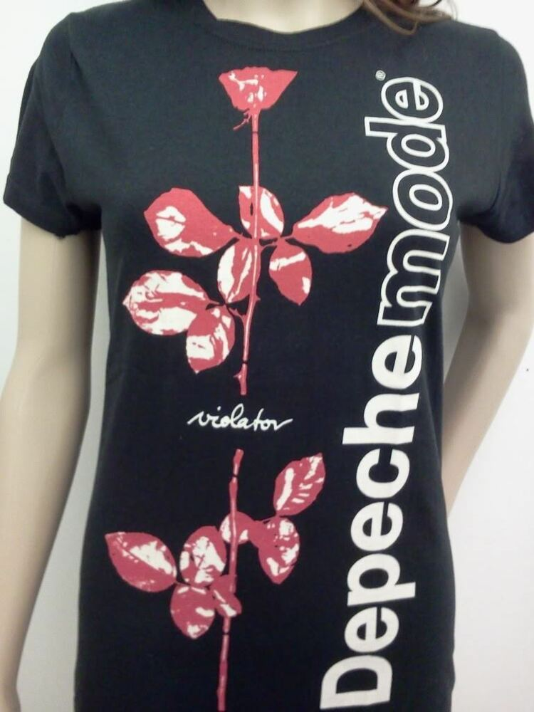 depeche mode womens t shirt free shipping violator new. Black Bedroom Furniture Sets. Home Design Ideas