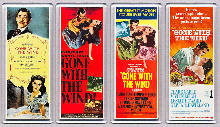 GONE WITH THE WIND movie poster LARGE FRIDGE MAGNETS ...