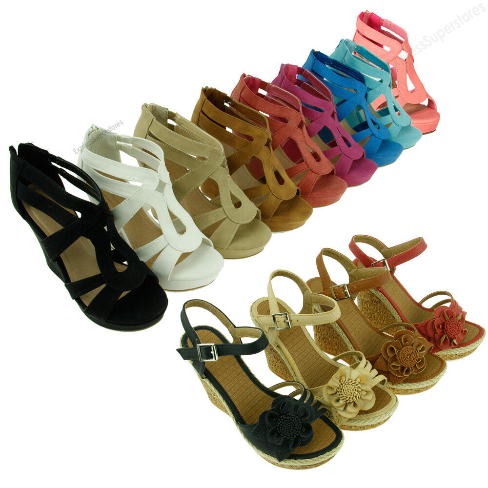 Elegant Sandals Women Cute Sandals Summer High Heels Wedges Shoes Sandals