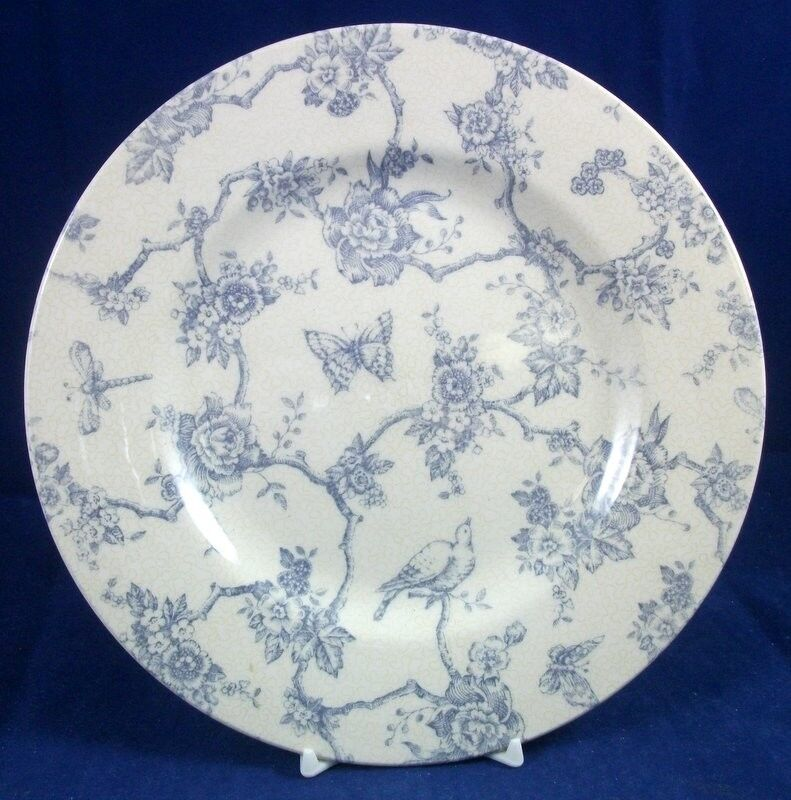 Queens Toile De Jouy Blue Salad Plate Great Condition Ebay