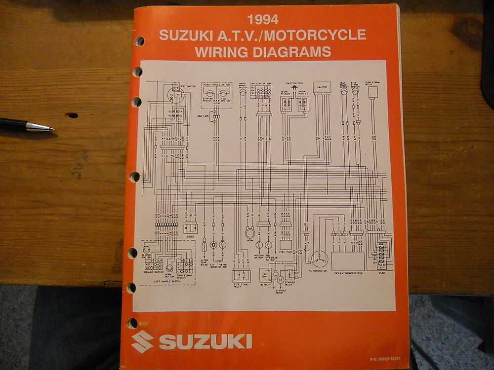Suzuki Atv Motorcycle Wiring Diagrams 1994