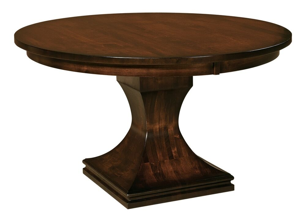 Contemporary Oak Dining Tables Extendable: Amish Pedestal Dining Table Round Modern Contemporary