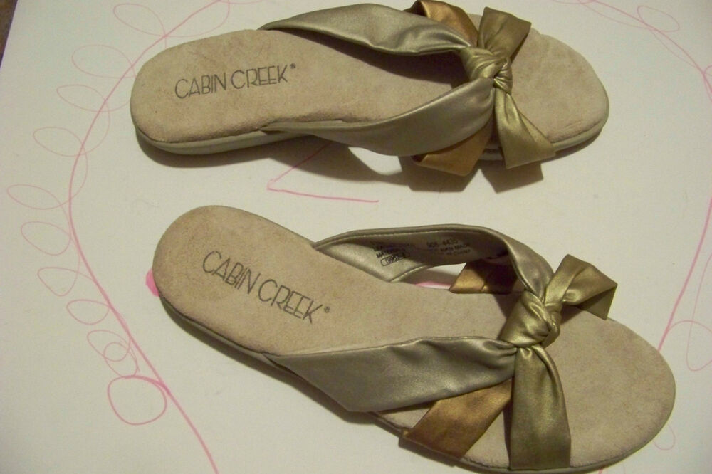 Cabin Creek Clothing: Womens Cabin Creek Multi Metallic Strap Sandals Shoes Size