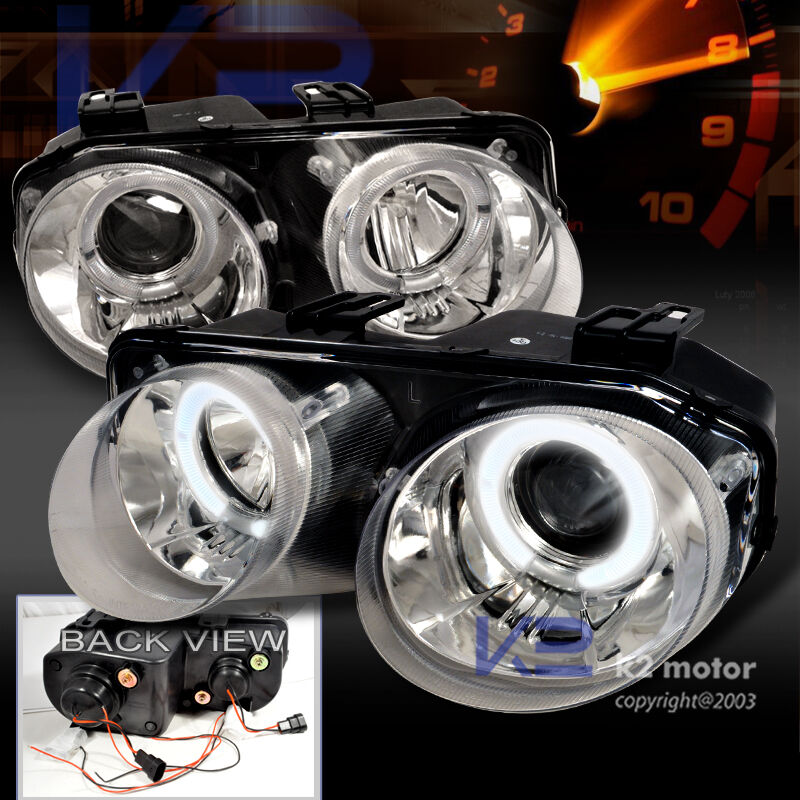 Acura Integra Headlights: 1998-2001 Acura Integra JDM Halo Projector Headlights