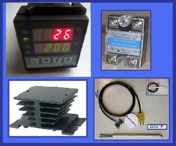 Pid Temperature Controller Kiln Probe Ssr Relay 40a Hs For