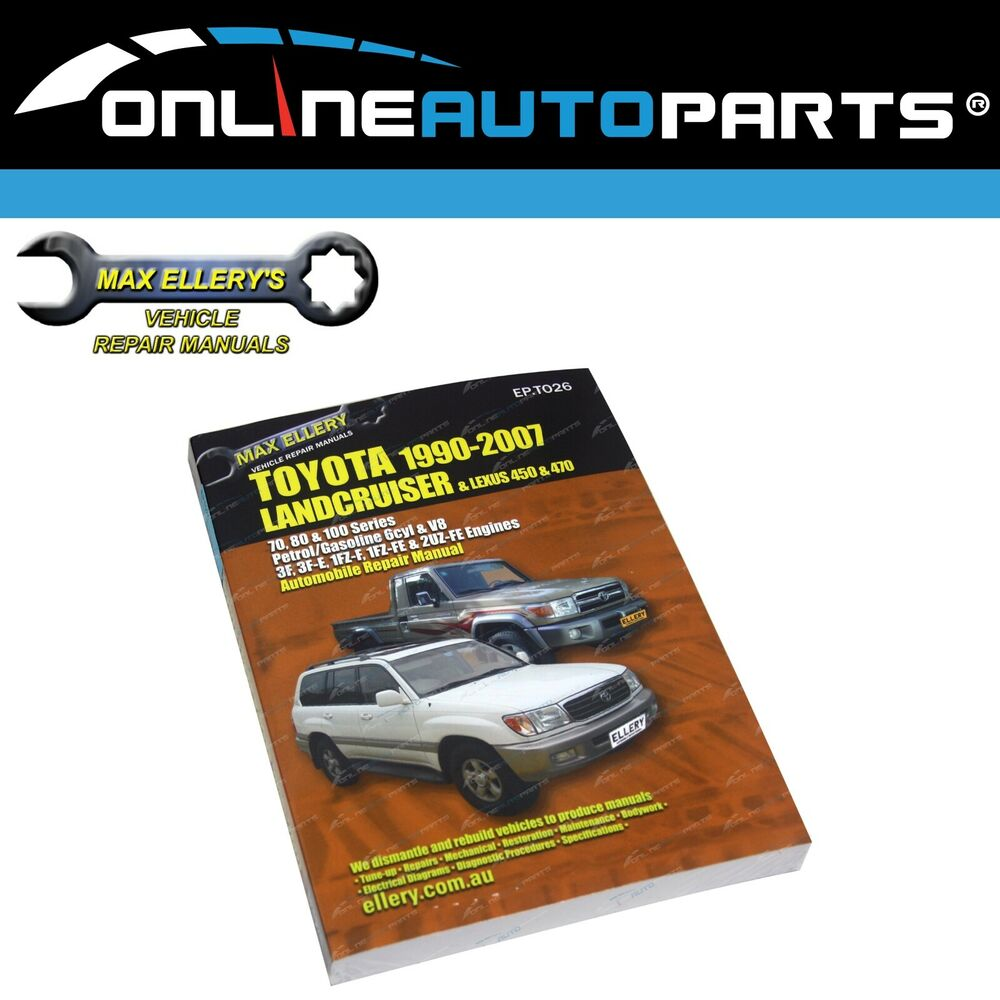 Workshop Repair Manual suits Toyota Landcruiser 1990-2007 70 80 100 Series  Book | eBay