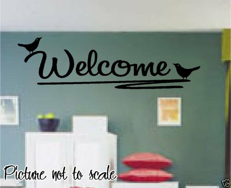 Welcome Birds On A Branch Wall Decal Perfect Home Decor Ebay