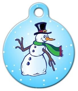 FROSTY SNOWMAN - Custom Personalized Pet ID Tag for Dog and Cat ...