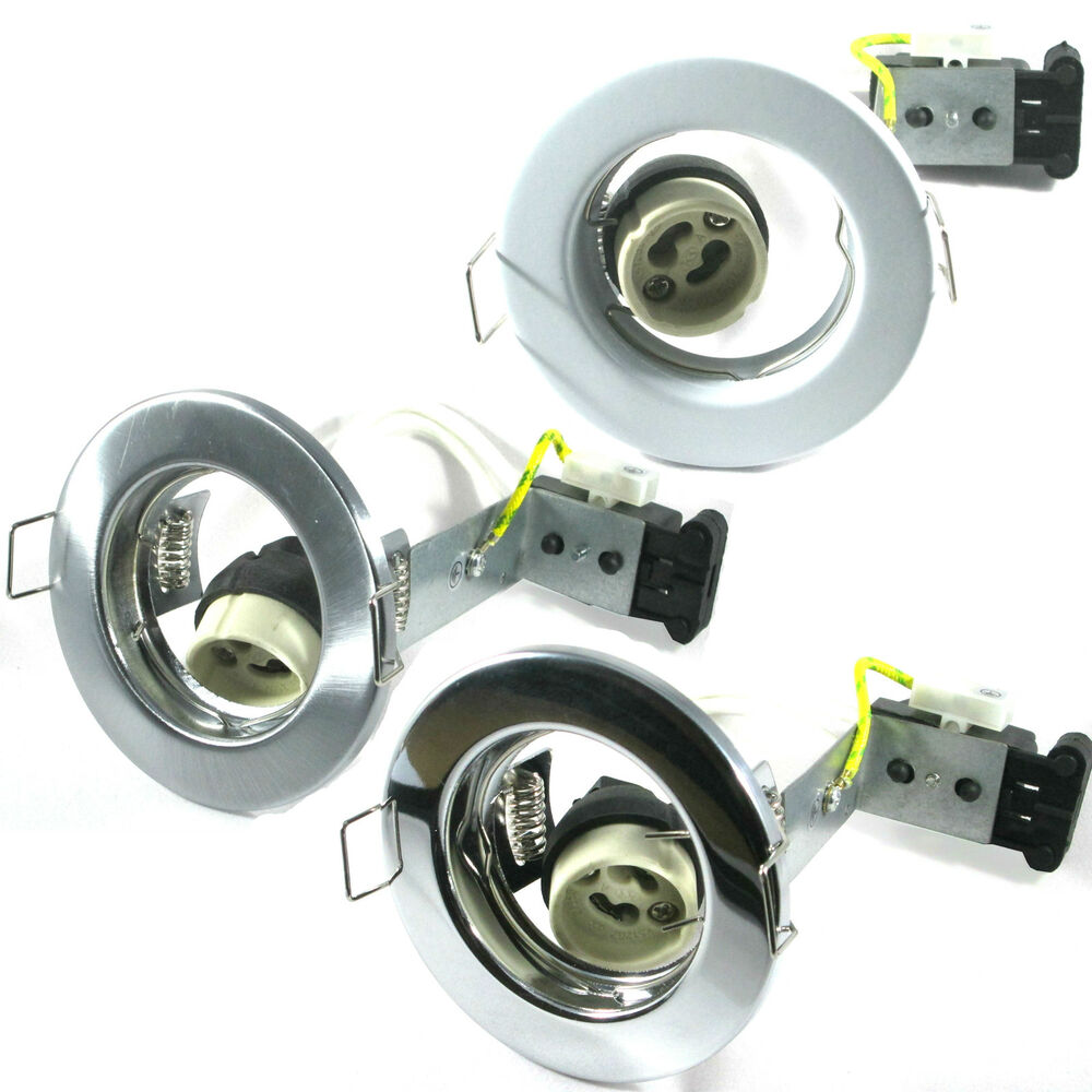 gu10 mains 240v downlights ceiling fixed beam spotlights halogen or led ebay