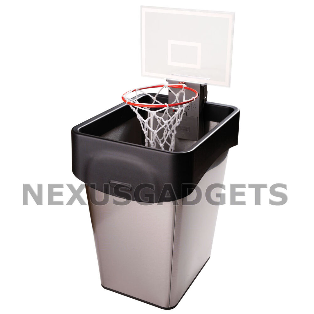 Basketball Trash Can Hoop Toy Office Game Garbage Paper