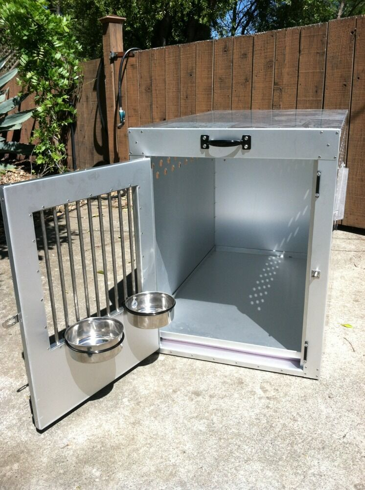 Aluminum Stainless Steal Dog Crate Kennel W Airline Kit