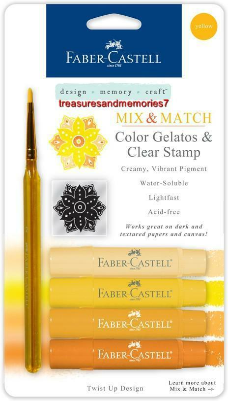 Faber castell mix match yellow gelatos colors clear - Colors that match with yellow ...