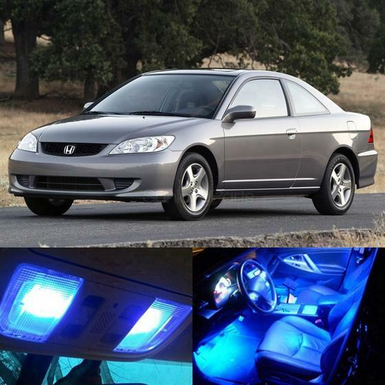 7x blue led lights interior package for honda civic 2001. Black Bedroom Furniture Sets. Home Design Ideas