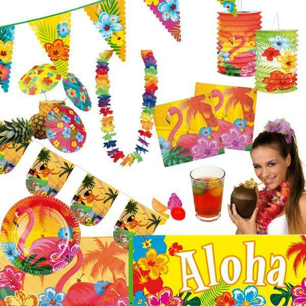 hawaii sommerfest deko poolparty beach sommer pool party beachparty strandparty ebay. Black Bedroom Furniture Sets. Home Design Ideas