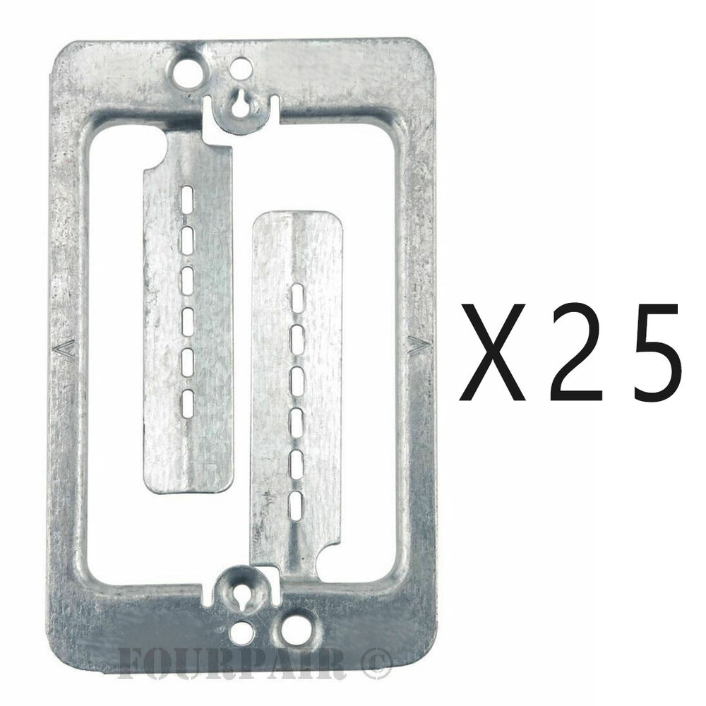 Low Voltage Faceplate : Pack lot single gang low voltage wall plate steel