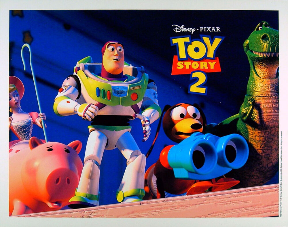 TOY STORY 2 1999 Walt Disney PIXAR Woody Buzz Lightyear LOBBY CARD #1 | EBay