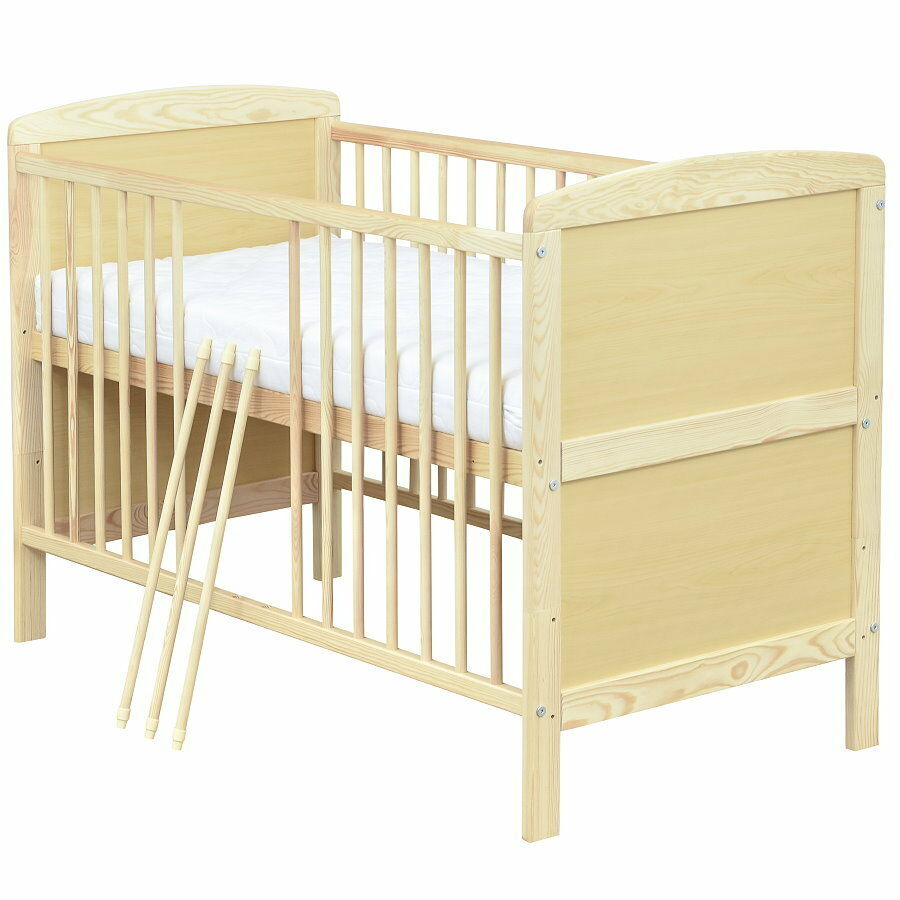 babybett kinderbett gitterbett juniorbett 2in1 140x70 matratze 9cm komfort neu ebay. Black Bedroom Furniture Sets. Home Design Ideas