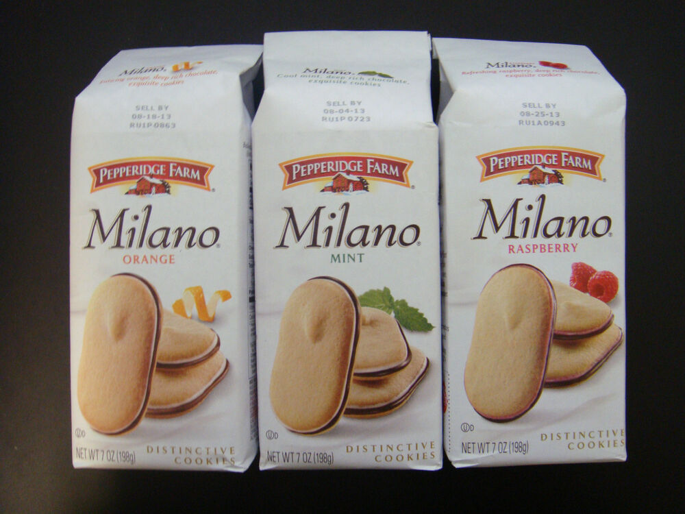 Pepperidge Farm Milano Cookies (Orange, Mint, Raspberry) All 3 Items ...