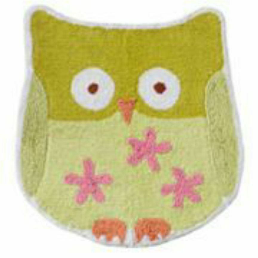Jumping Beans Owl Friends Cotton Bath/Bed Area Throw Rug