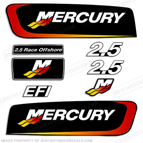 Mercury 2 5l Alien Cowl Outboard Engine Decal Kit