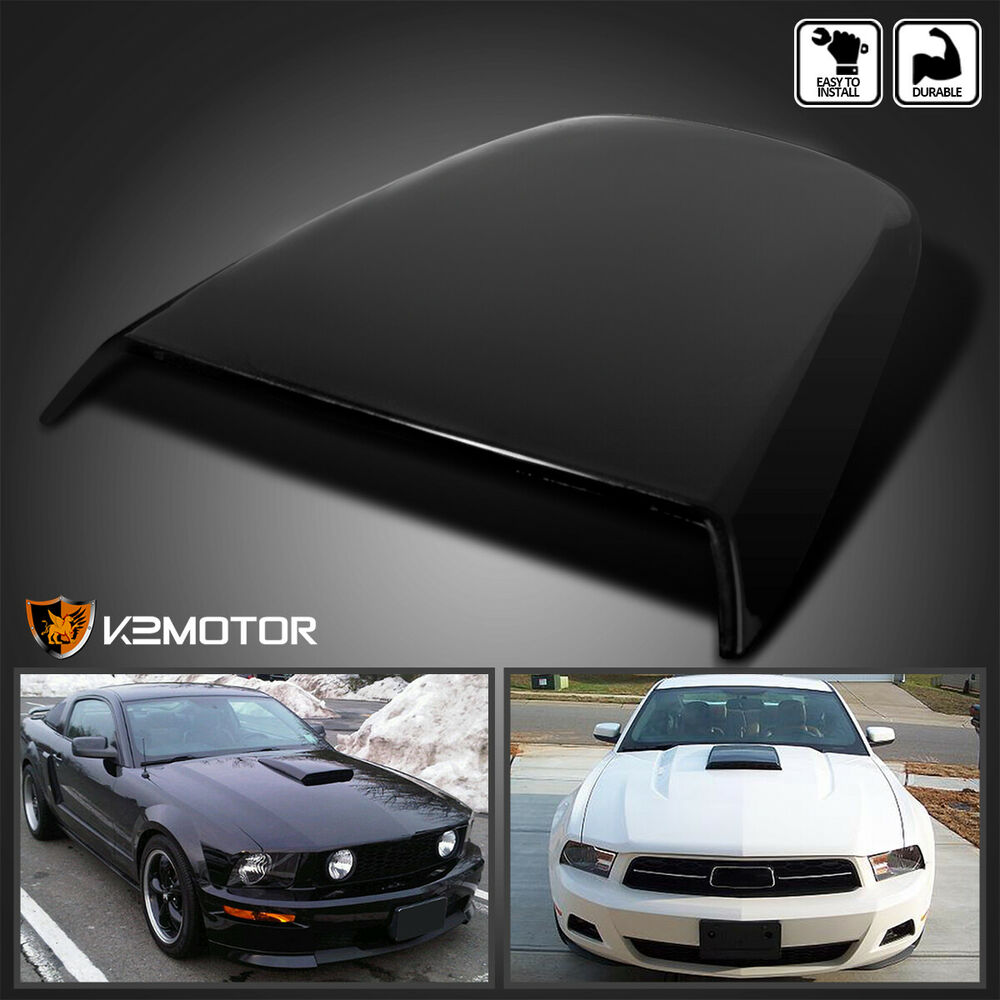 2005 2009 ford mustang gt v8 racing hood scoop black ebay for Ebay motors mustang gt