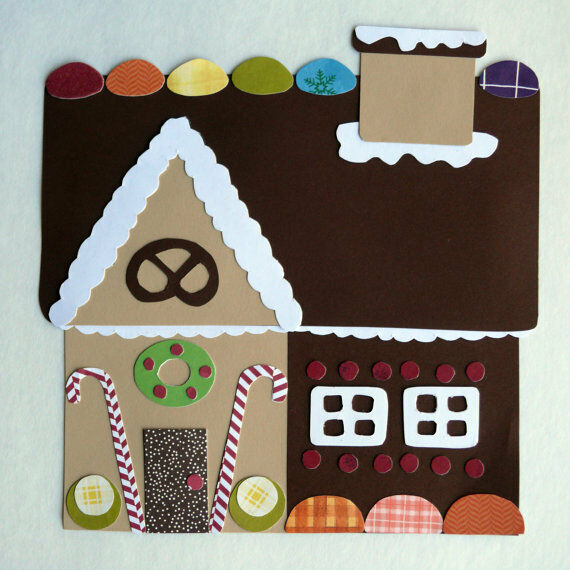 Gingerbread House Quilt Pattern Free : Quilt Applique Template / Pattern Gingerbread House, Pretzel, Christmas Candy eBay