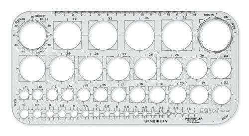 Staedtler Mars Circles Template Stencil - 45 Circles from 1mm to ...