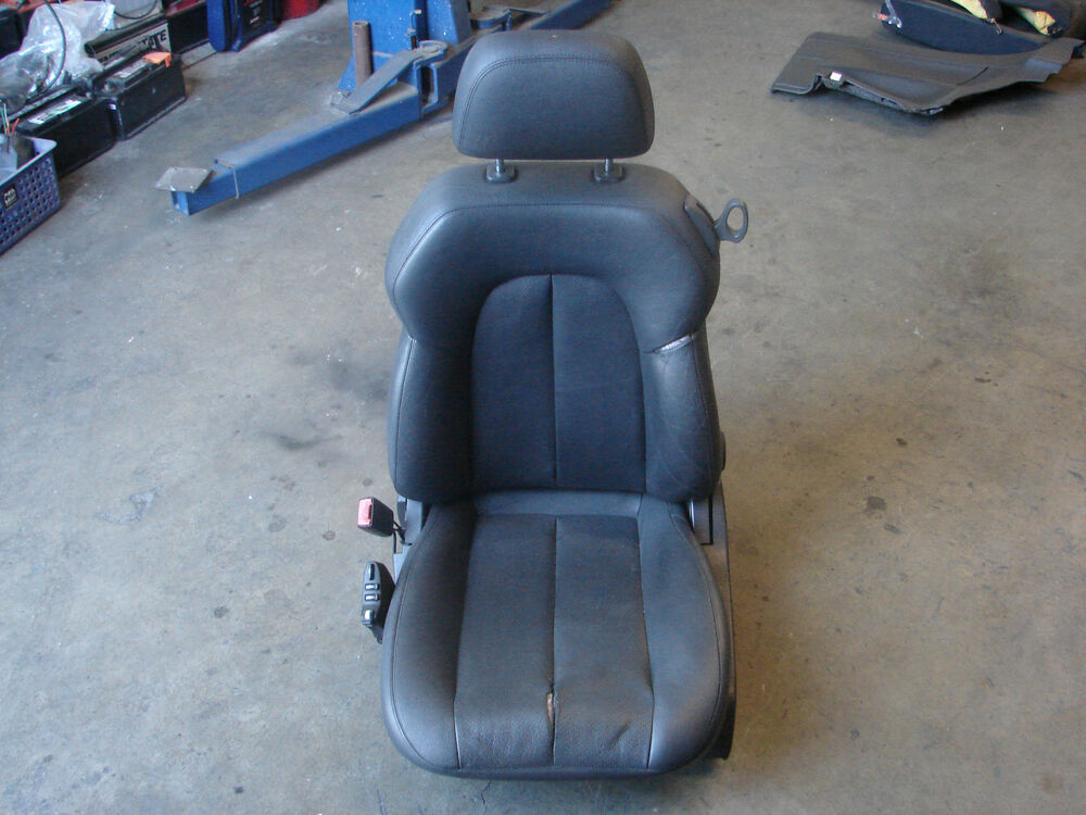 208 clk430 clk320 leather drivers seat assembly black left for Mercedes benz driver seat replacement