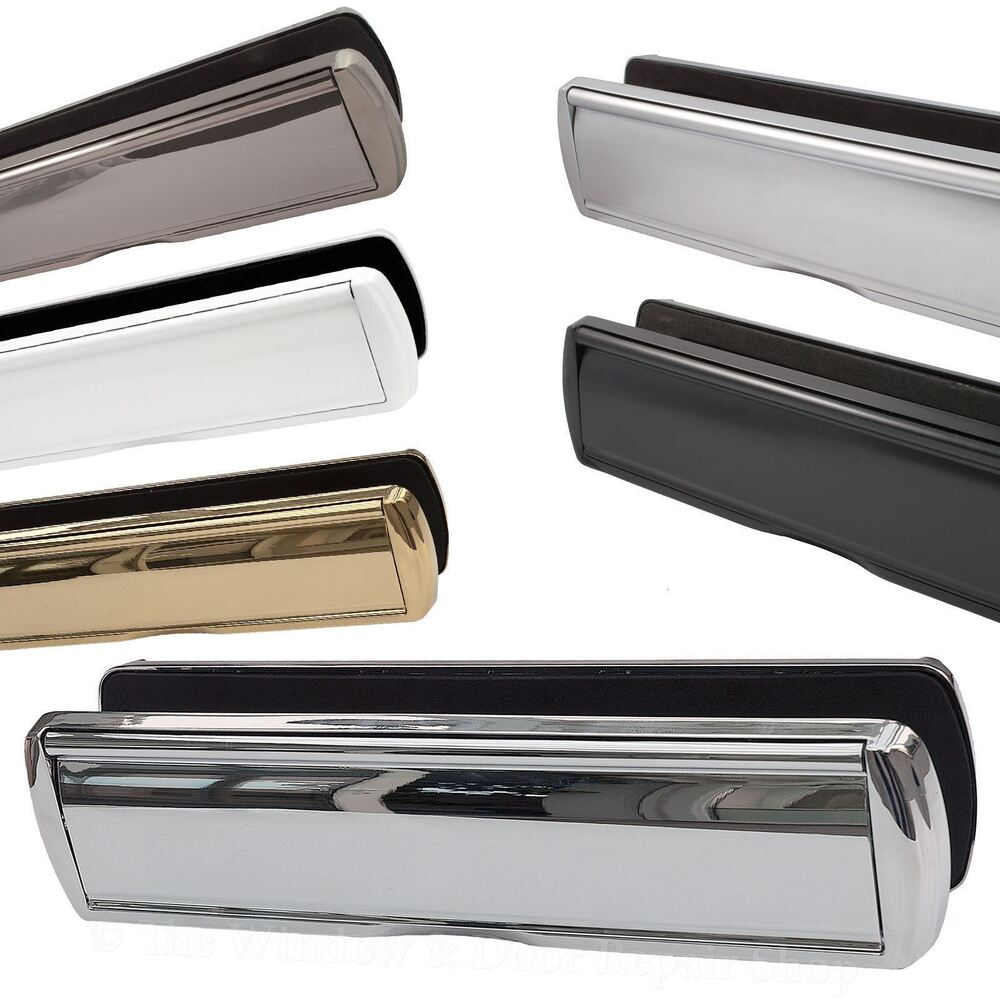 12 letter box sprung plate set omega heavy duty metal 40 for Upvc french doors with letterbox