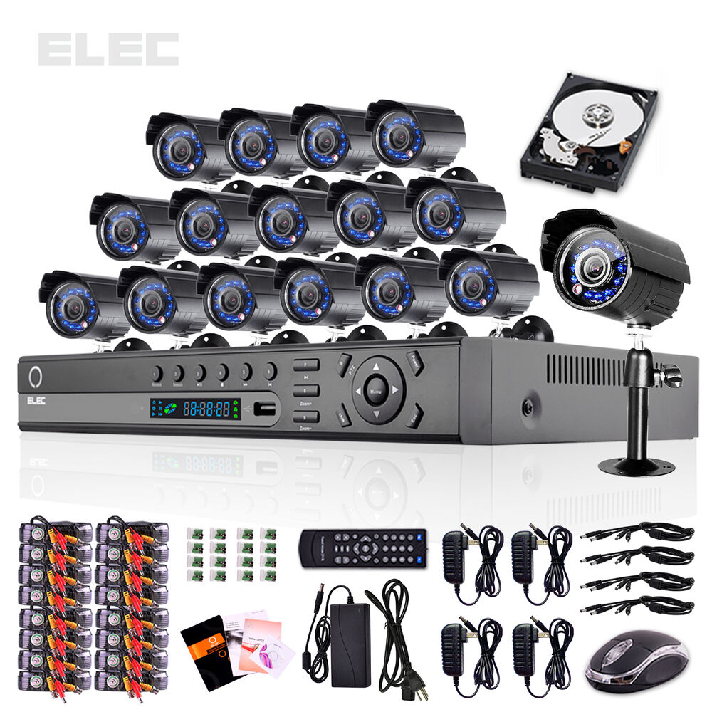 ELEC® 16 Channel HDMI CCTV DVR 16 Outdoor Indoor Home Security Camera System 2TB | eBay
