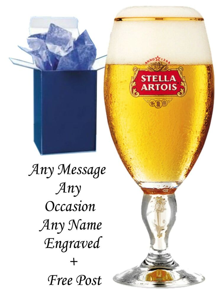 Engraved Wedding Beer Glasses : ... Engraved Wedding Gifts 1 pint Stella Artois Chalice Beer Glass Gift