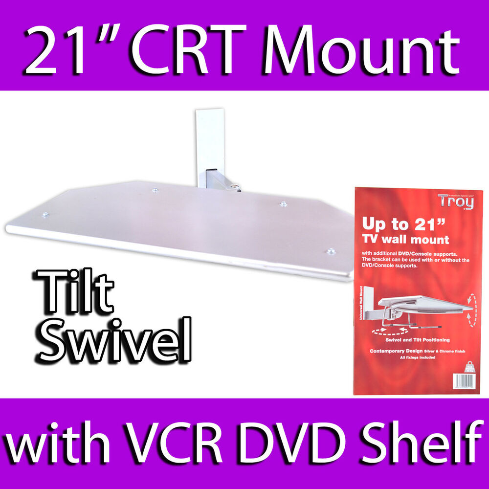 Troy 21 Quot Crt Old Style Tv Wall Mount Bracket Dvd Sky Vcr