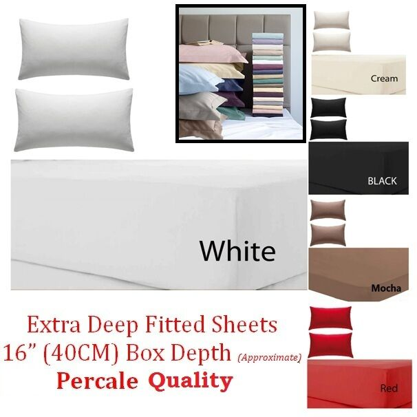 Bed Linens & Sets United Fitted Sheet 100% Egyptian Cotton Single Small Double Super King Size Bed Sheets
