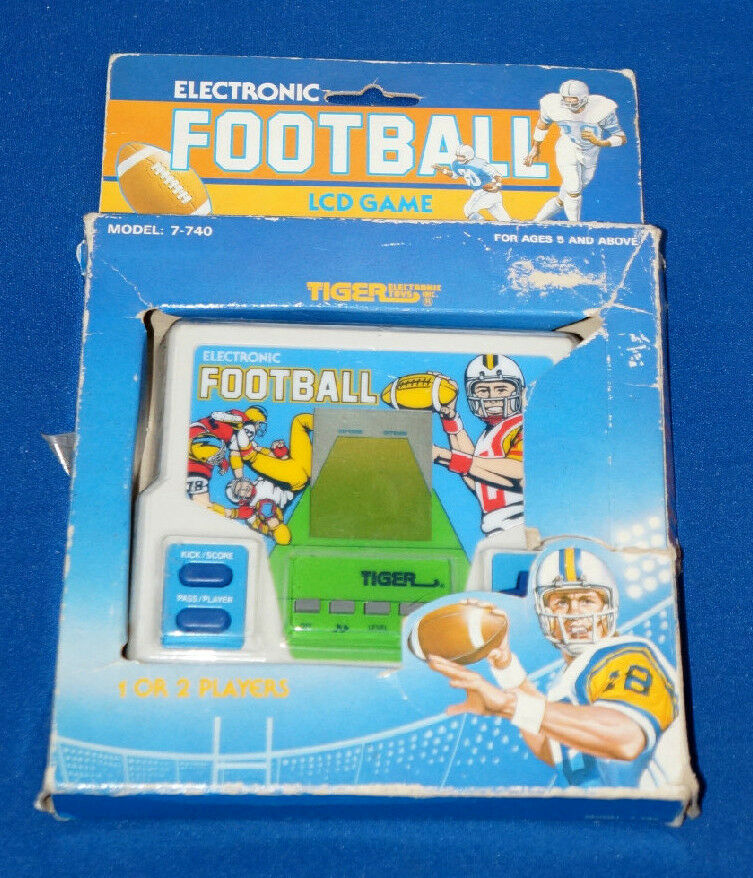 80s Toys And Games : S football tiger electronic handheld video game arcade