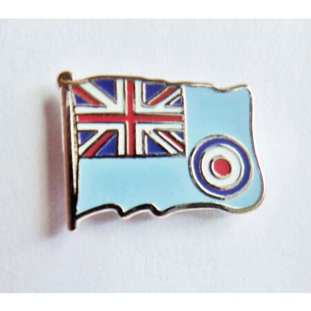 img-RAF Royal Air Force Ensign Wavy Flag Pin Badge - MOD Approved - M16