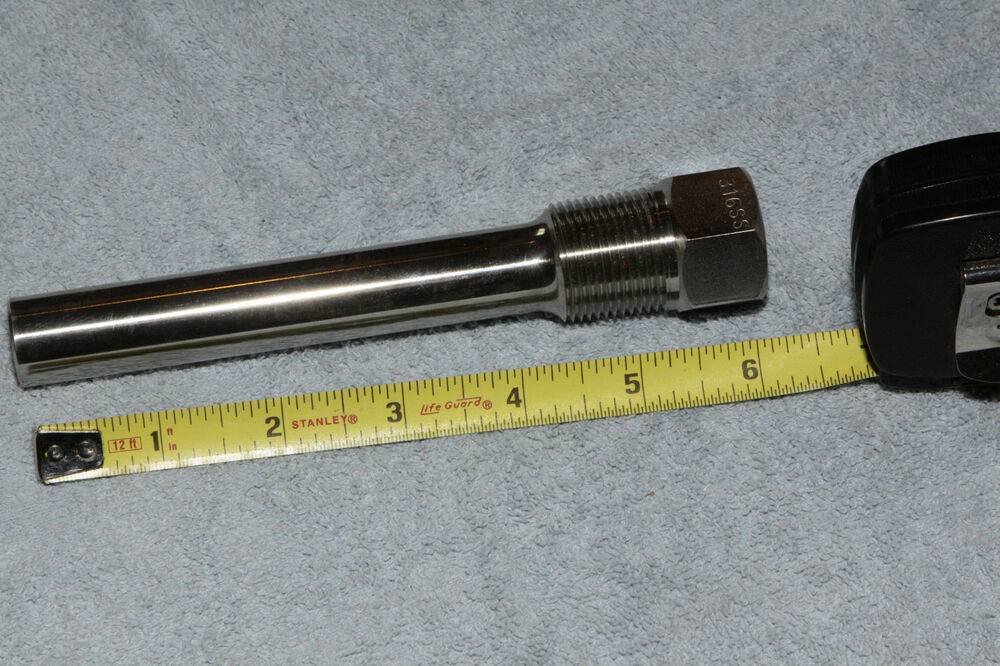 Ashcroft thermometer well thermowell quot straight shank