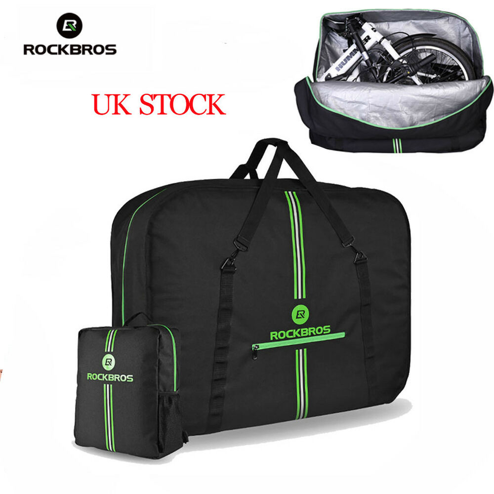 RockBros Folding Bike Carrier Bags With Storage Bag High Capacity Easliy Carry