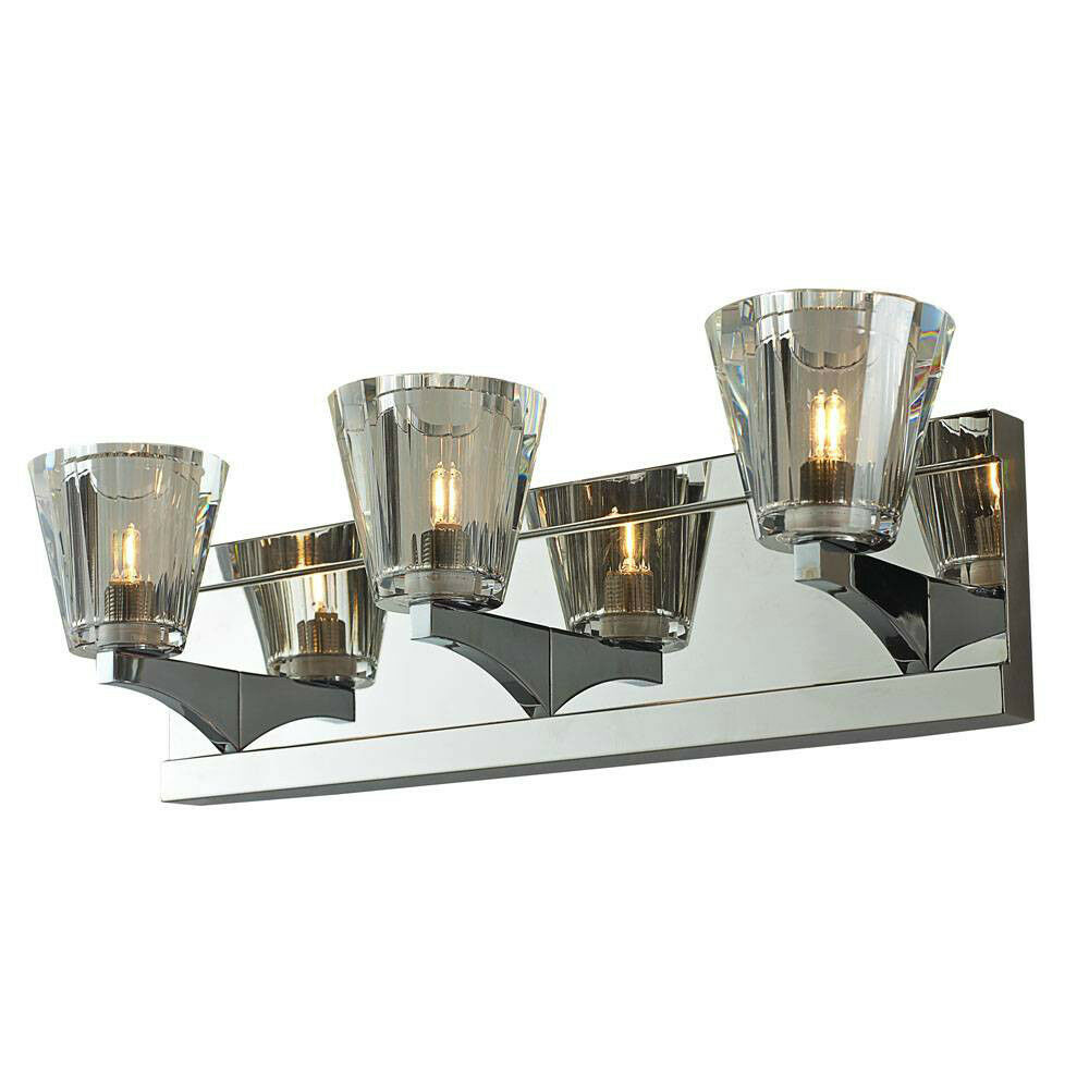 crystal 3 light bathroom fixture wall vanity lighting triple lamp fancy elegant ebay