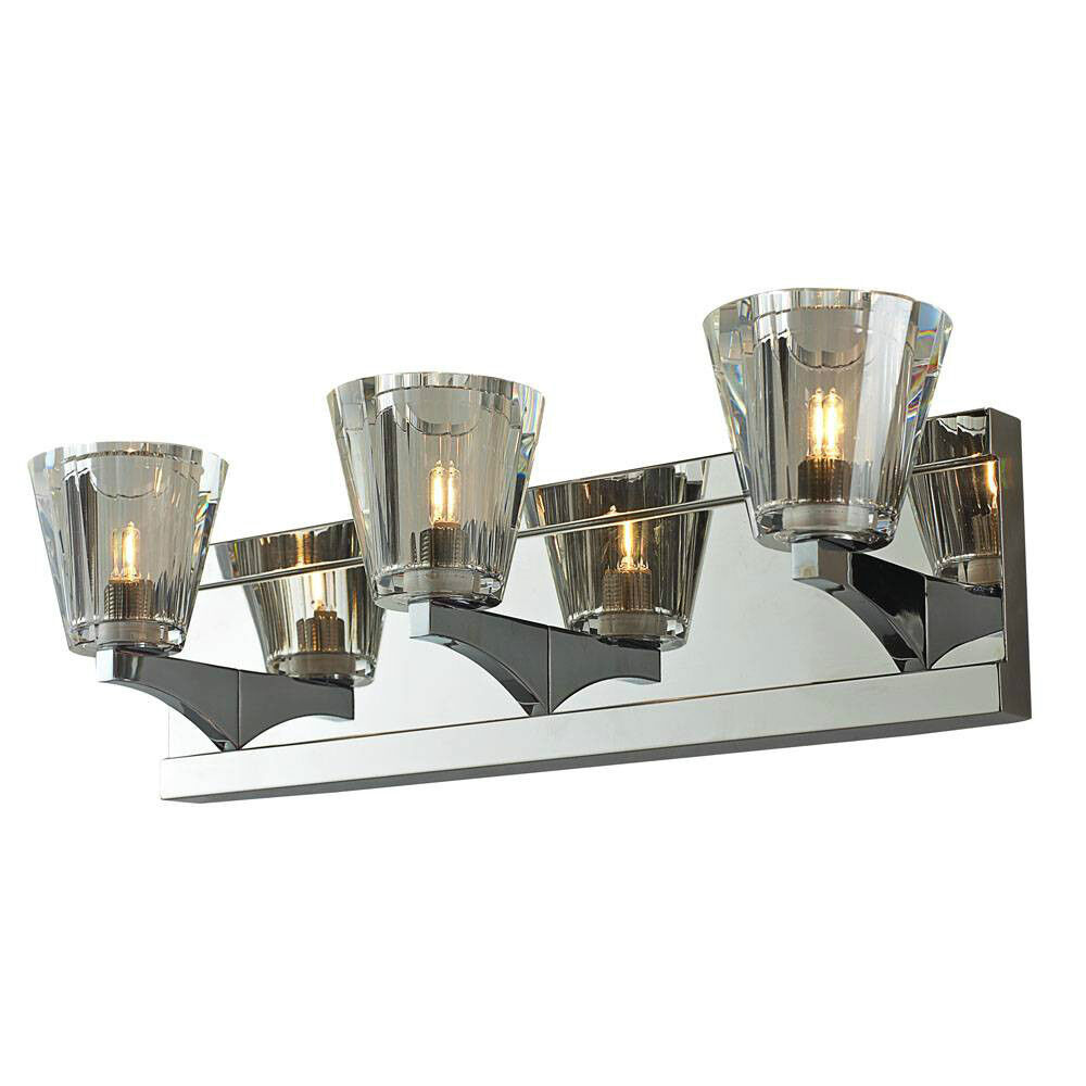 Crystal 3-Light Bathroom Fixture Wall Vanity Lighting Triple Lamp Fancy Elegant eBay
